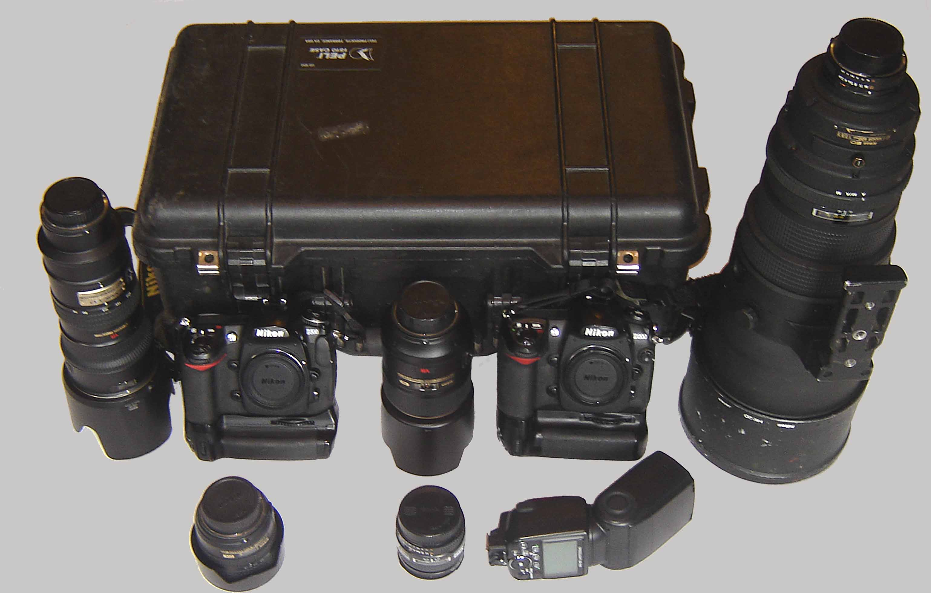 The Nikon gear we use.